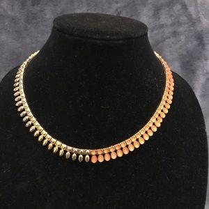 NWOT BCBG Statement Gold & Peach Necklace